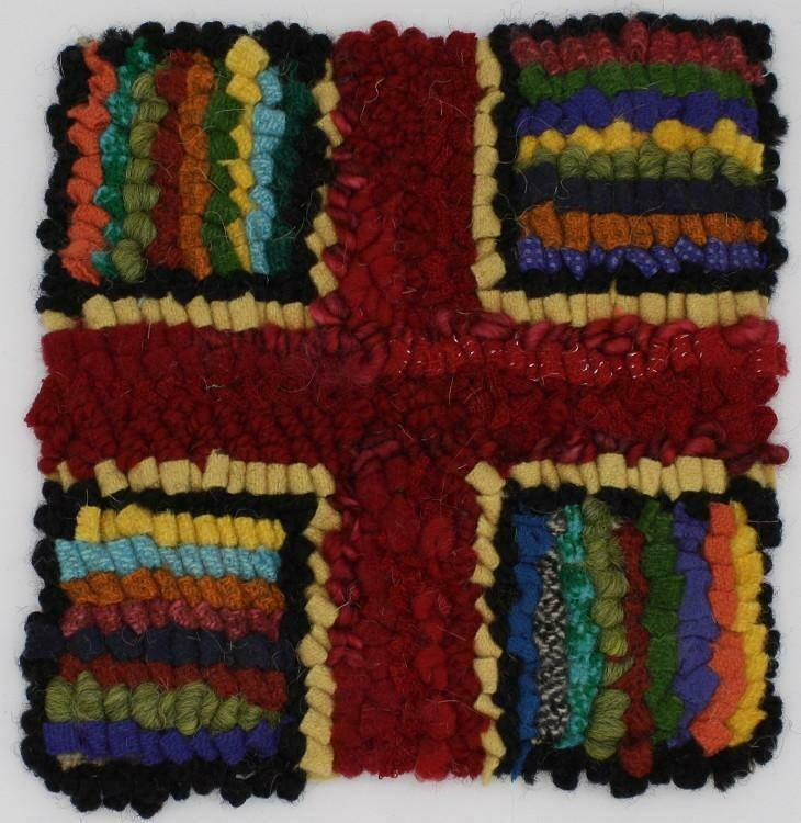 Rug Hooking Kit - Hit and Miss Cross