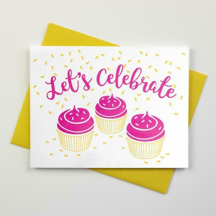Cupcake Celebrate Card - Inkwell Originals