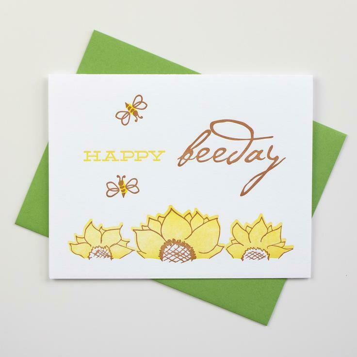 Happy Beeday Birthday Card - Inkwell Originals