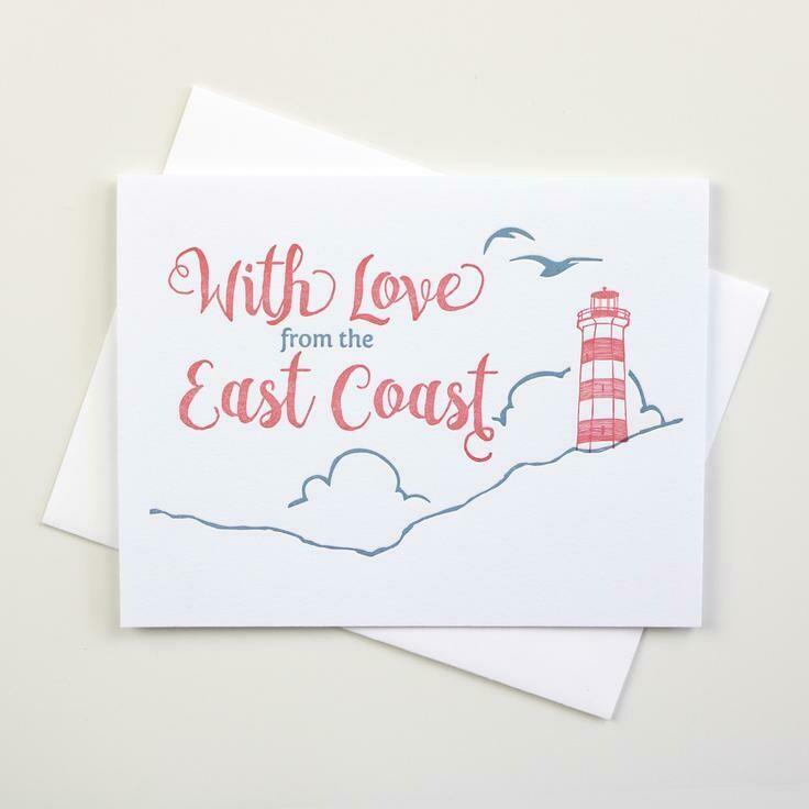 East Coast Love Card - Inkwell Originals