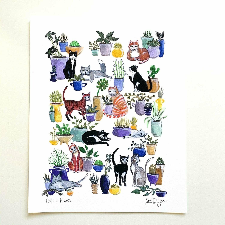 Cats and Plants - Sarah Duggan