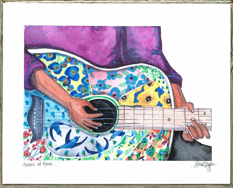 Music at Home Card - Sarah Duggan
