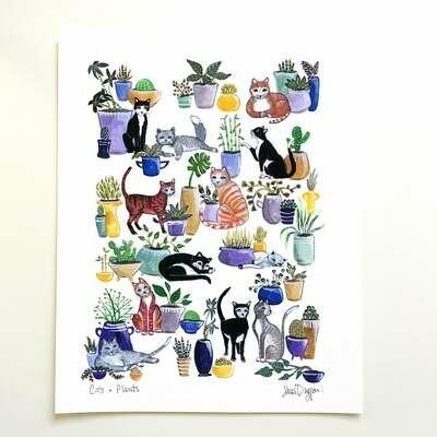 Cats and Plants Card - Sarah Duggan