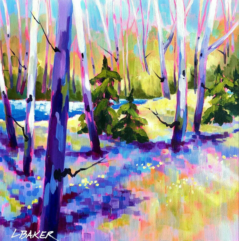 Bluebells and Birch