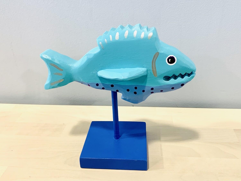 Aqua Fantastical Fish Timberdoodle