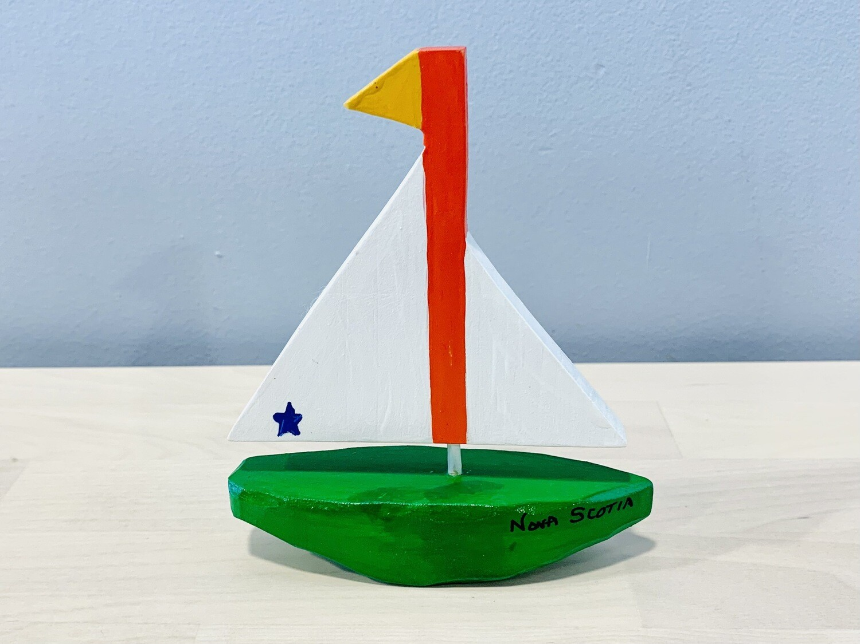 Small Green Sailboat Timberdoodle