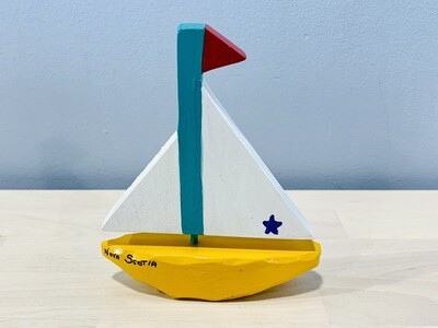 Small Yellow Sailboat Timberdoodle
