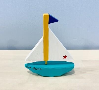 Small Teal Sailboat Timberdoodle