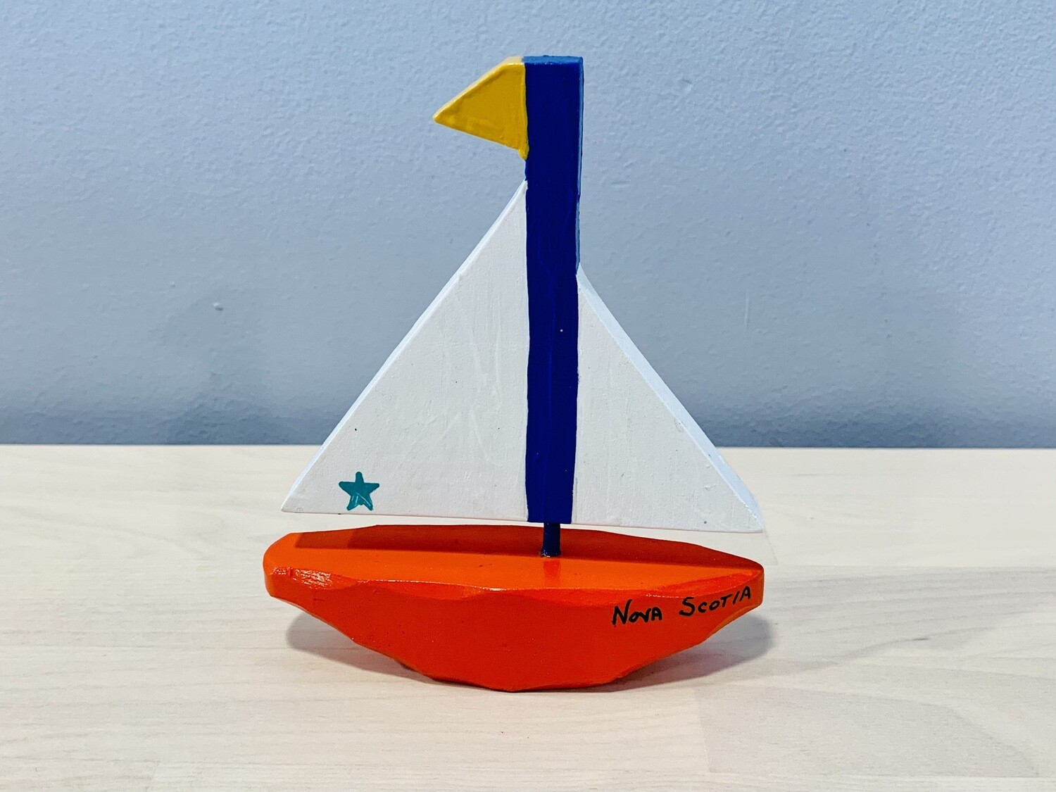 Small Red Sailboat Timberdoodle