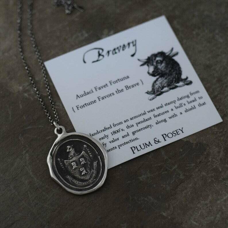119-Bravery Wax Seal Pendant
