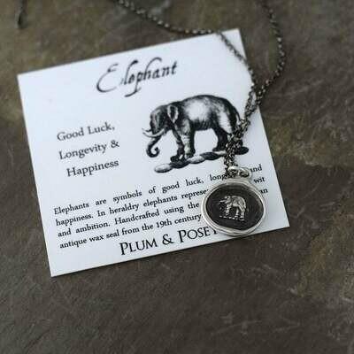 294-Elephant Wax Seal Pendant