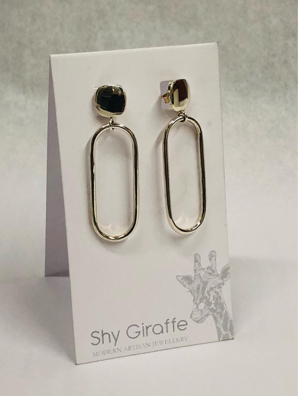 Large Oval Stud Earrings - Shy Giraffe