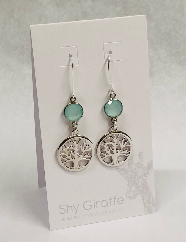 Tree of Life Gemstone Earrings - Shy Giraffe