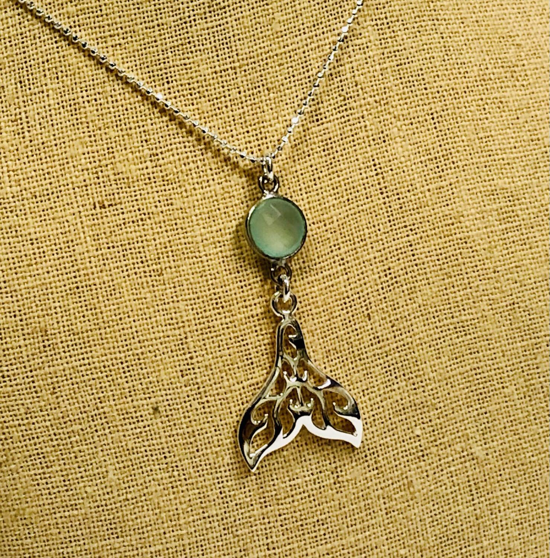 Whale Tail & Gemstone Necklace - Shy Giraffe