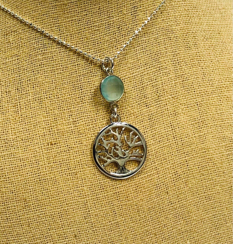 Tree of Life Gemstone Necklace - Shy Giraffe