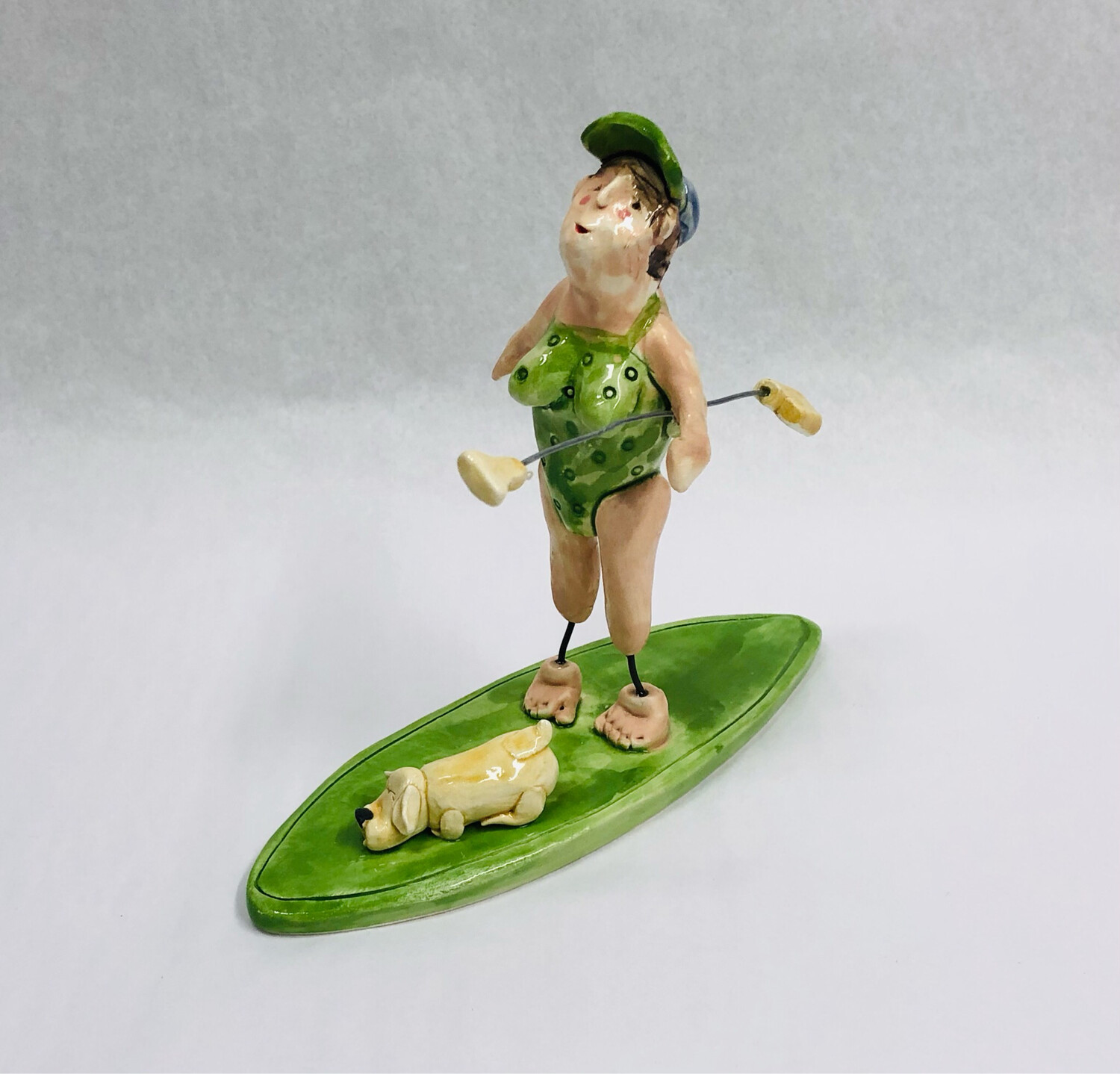 Green Lady Stand Up Paddle Boarder - Clayton Dickson