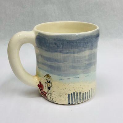 Beach Mug, Lady & Chair - Clayton Dickson