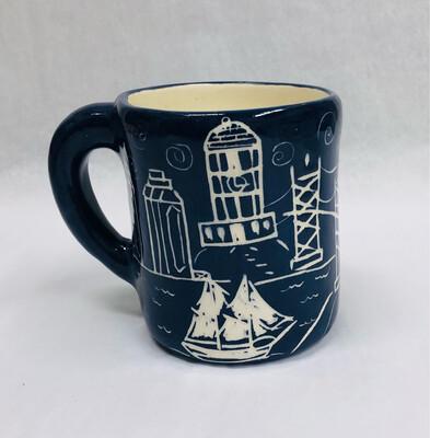 Left Handed Bluenose Mug - Clayton Dickson