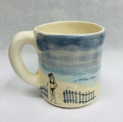 Beach Mug, Standing Lady - Clayton Dickson