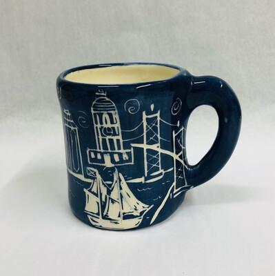 Right Handed Bluenose Mug - Clayton Dickson
