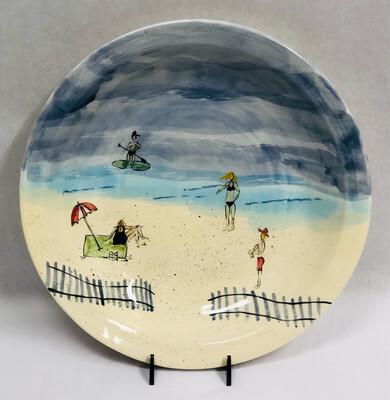 Large Beach Bowl, Green Paddleboard - Clayton Dickson