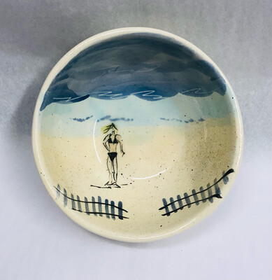 Female, Black Swimsuit Beach Bowl - Clayton Dickson