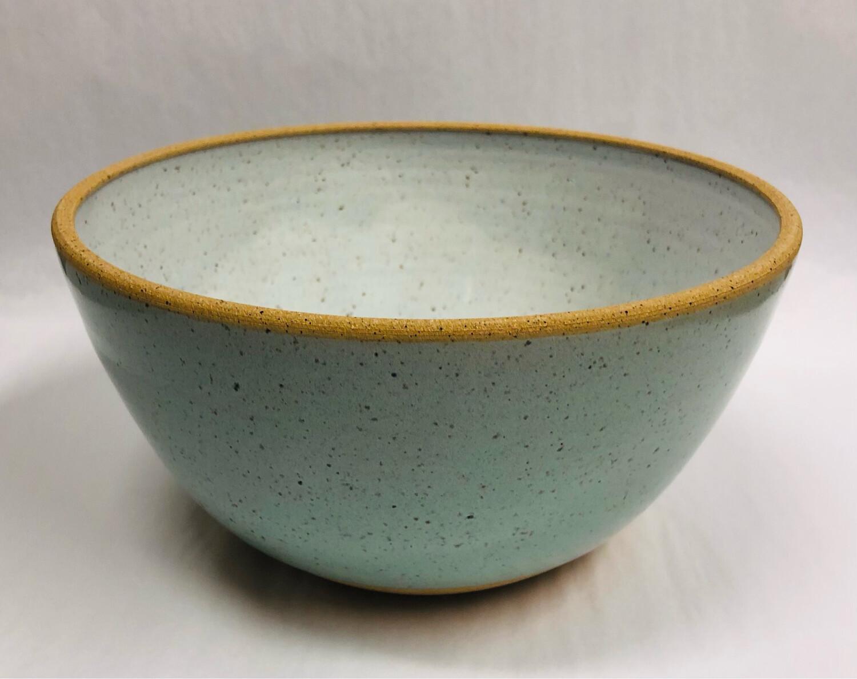 Toni Losey Medium Mixing Bowl- Blue Outside White Inside