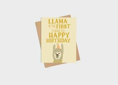 Llama Birthday Card - Kim Roach