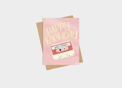 Classic Happy Birthday Card - Kim Roach