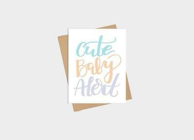 Cute Baby Alert Card