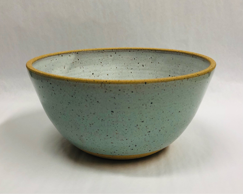 Toni Losey Small Mixing Bowl- Blue Outside White Inside