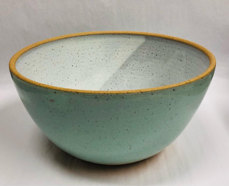 Toni Losey Large Mixing Bowl- Blue Outside White Inside