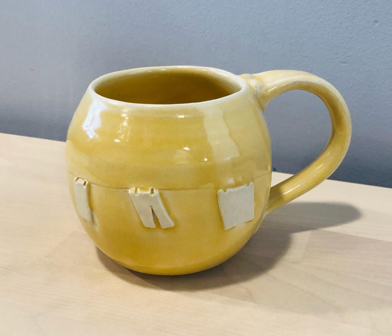 Yellow Clothesline Mug