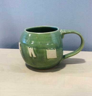 Green Clothesline Mug GA