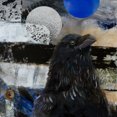 Blue Moon with Raven