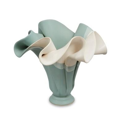 Hilborn Sculpted Vase- Robin's Egg