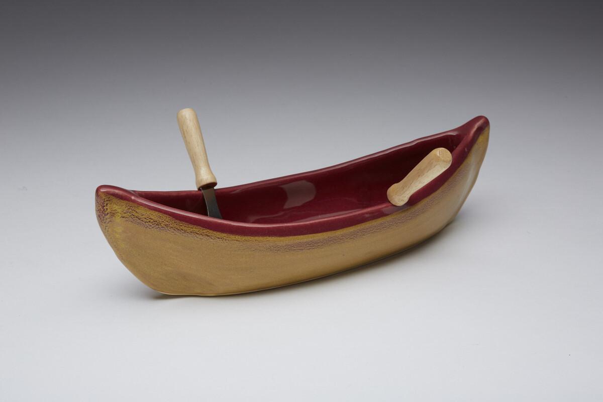 Maxwell Canoe Dip Pot - Red Gold