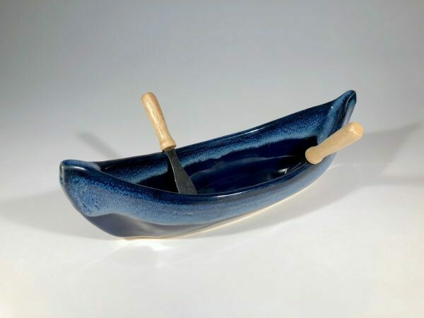 Maxwell Canoe Dip Pot - Northern Lights