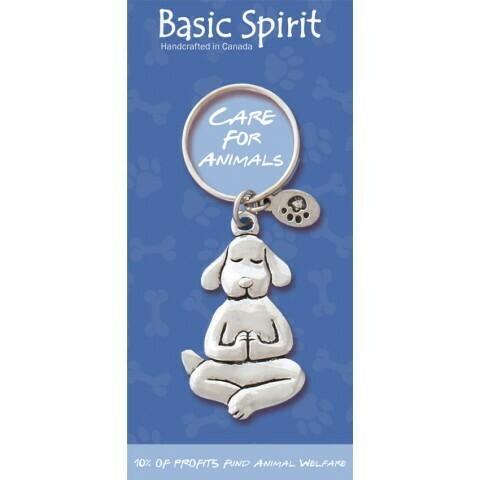 Yoga Dog Keychain- Basic Spirit