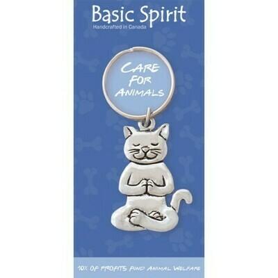 Yoga Cat Keychain- Basic Spirit