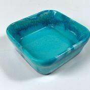 Square Resin Dish Aqua & Teal