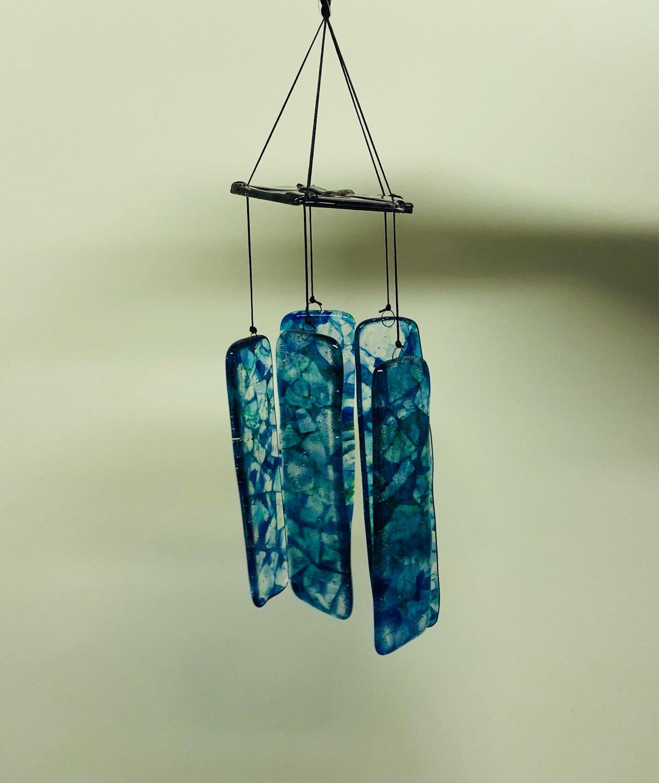 Blue & Purple Glass Wind Chime