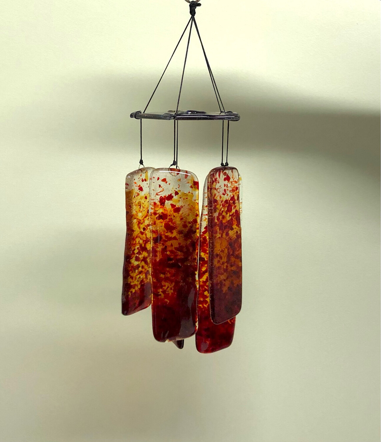 Red & Gold Glass Wind Chime