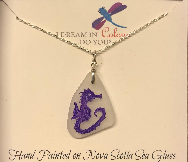 Painted Sea Glass, Seahorse - I Dream in Colour