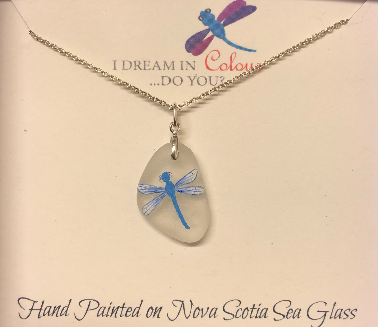 Painted Sea Glass, Dragonfly - I Dream in Colour