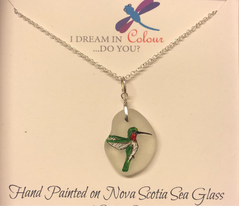 Painted Sea Glass, Hummingbird - I Dream in Colour
