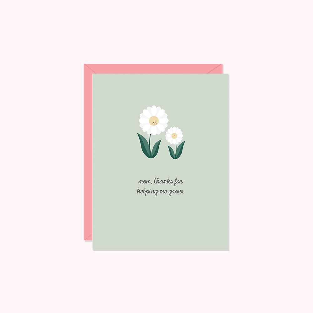 Helping me grow card