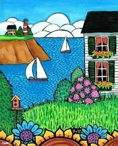 White Cottage by the Sea - Shelagh Duffett