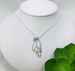 Butterfly Wing Necklace- Shy Giraffe