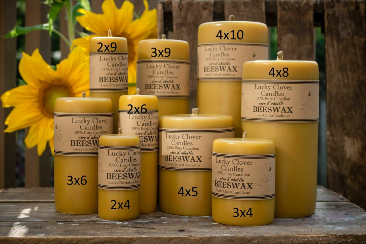 """Smooth Beeswax Candle 3"""" x 9"""""""